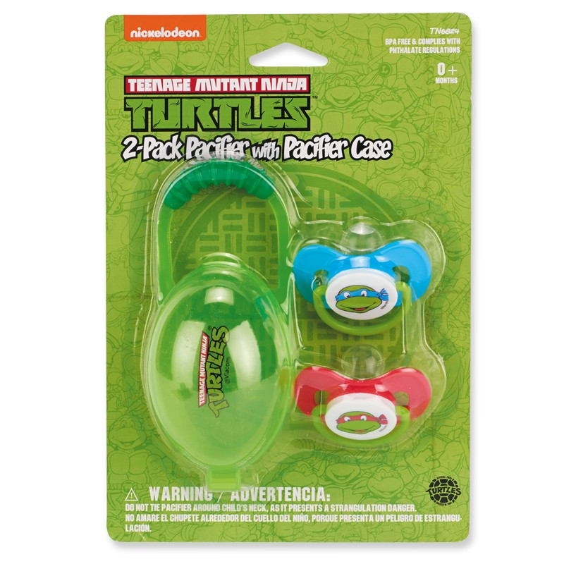 Nickelodeon Ninja Turtles Pacifier With Case 2 Pack