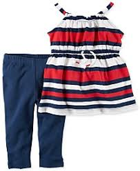 f586bf6794c Click to enlarge. HomeClothingGirls dresses Carter's 2-Pc. Striped Cotton  Tunic & Leggings Set ...
