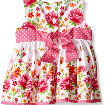 7914af35b HomeClothingGirls dresses Youngland Baby Girls' Floral Print Dress with  Crochet Lace Cardigan